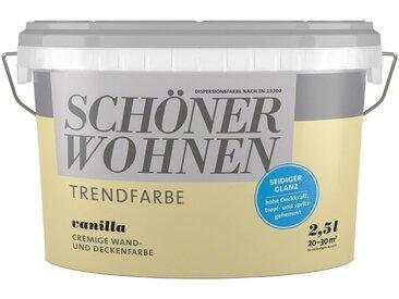 SCHÖNER WOHNEN-Kollektion SCHÖNER WOHNEN Innenfarbe »Trendfarbe«, seidenglänzend, gelb, 2.5 l, Vanilla