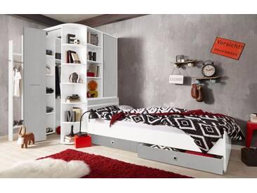 Wimex Jugendzimmer-Set »Joker«, grau, weiß/betonfarben lichtgrau