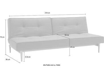 INNOVATION™ Schlafsofa »Splitback« mit hellen Styletto Beinen, in skandinavischen Design, grau, darkgrey