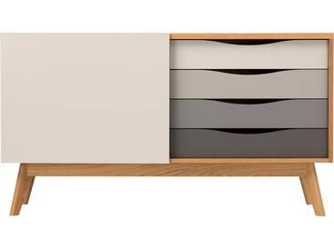 Woodman Sideboard »Hilla«, Breite 130 cm, braun, eiche/braun