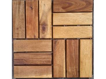 MERXX Merxx Holz-Fliesen »Akazie« mit Klick-Verbindung,, Fläche: 3,6 m²/Paket, braun, braun, 0.9 m², braun