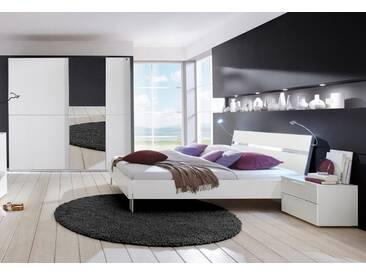 INOSIGN Schlafzimmer-Set (4-tlg.), Made in Germany, weiß, Futon 160 cm, Schrank 200 cm, weiß