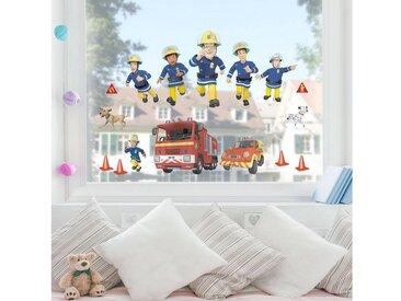 Bilderwelten Fenstersticker »Feuerwehrmann Sam - Helden«, bunt, Farbig