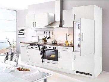 HELD MÖBEL Küchenzeile mit E-Geräten »Toronto, Breite 280 cm«, weiß, ohne Aufbauservice, nussbaumfarben/weiß