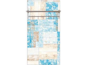 Artland Wandgarderobe »Jule: Maritimes Holz«, blau, 120 x 60 x 2,8 cm, Blau