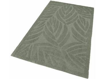 my home Selection Hochflor-Teppich »Jordi«, rechteckig, Höhe 32 mm, Besonders weich durch Microfaser, grün, 32 mm, grün
