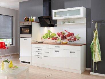 HELD MÖBEL Küchenzeile ohne E-Geräte »Fulda, Breite 240 cm«, weiß, ohne Aufbauservice, weiß