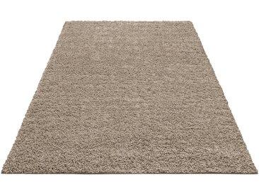Home affaire Hochflor-Teppich »Shaggy 30«, rechteckig, Höhe 30 mm, natur, 30 mm, caramel