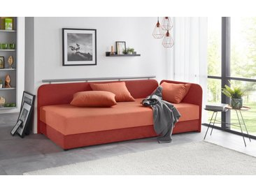 Maintal Studioliege, braun, Liegehöhe 38 cm, 5-Zonen-Komfortpolsterung, terra