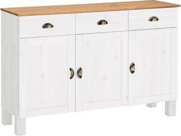 Home affaire Unterschrank »Oslo« 125 cm breit, weiß, weiß/honigfarben