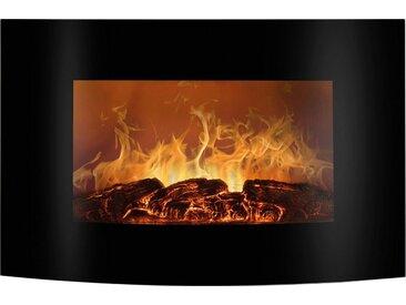BOMANN Elektrokamin EK 6021 CB, Flammensimulation und Heizlüfterfunktion, schwarz, schwarz