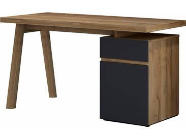 HMW Schreibtisch »Slide«, grau, Balkeneiche/anthrazit