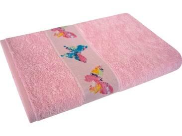Dyckhoff Duschtuch »Schmetterling«, mit schöner Schmetterlingsbordüre, rosa, Walkfrottee, rosa