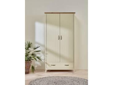 Home affaire Kleiderschrank «Norfolk», 2-trg., Breite 99 cm, cremeweiß/antik