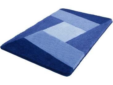 Kleine Wolke Badematte »Indiana« , Höhe 20 mm, rutschhemmend beschichtet, fußbodenheizungsgeeignet, blau, 20 mm, azur-blau