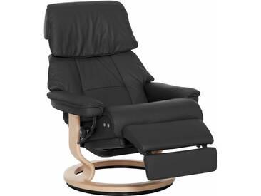 Stressless® Relaxsessel »Ruby« mit Classic Base und LegComfort™, Größe L, mit Schlaffunktion, schwarz, Fuß naturfarben, dark black