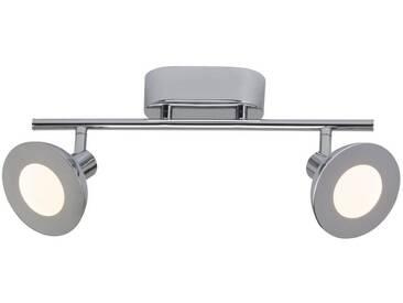 AEG Titania LED Spotrohr 2flg chrom, silberfarben, chrom
