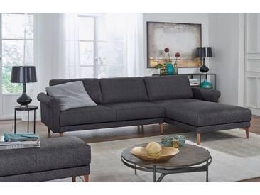 Hülsta Sofa hülsta sofa Polsterecke »hs.450« im modernen Landhausstil, Breite 262 cm, Recamiere rechts, anthrazitgrau/schwarzgrau