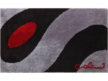 Colani Badematte » 35« , Höhe 24 mm, rutschhemmend beschichtet, fußbodenheizungsgeeignet, grau, 24 mm, hellgrau-schwarz