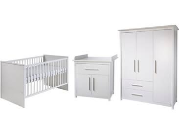 Roba® Roba Babyzimmer Set (3-tlg.), Kinderzimmer, »Castello«, weiß, weiß