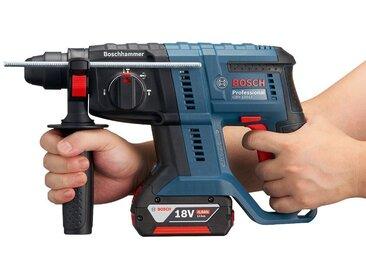 Bosch Professional BOSCH PROFESSIONAL Akku-Bohrhammer »GBH 18V-20«, mit 2. Akku 18V/4Ah, SDS-Plus, blau, 2 Akkus, blau