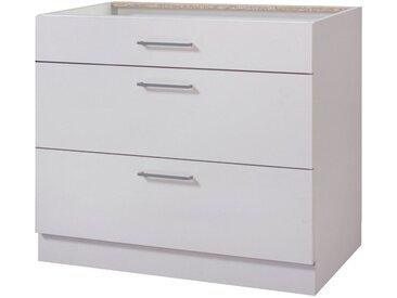 Küchenunterschrank »London, Breite 90 cm«, grau, kaschmirfarben
