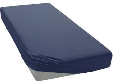 Janine Spannbettlaken »Elastic-Jersey«, auch für Wasserbetten, blau, Jersey-Elasthan, marine