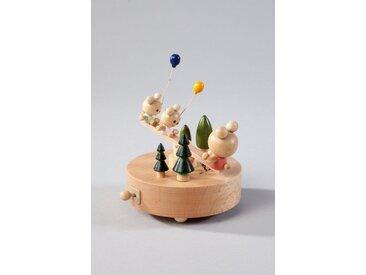 HGD Holz-Glas-Design Spieluhr Wippschaukel aus Echtholz, natur, Natur