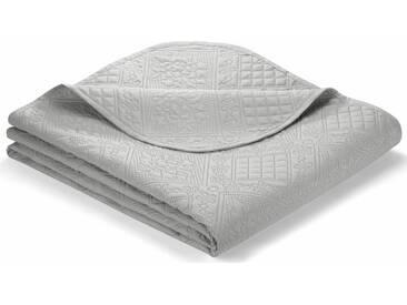 IBENA Tagesdecke »Soni«, mit feinem Muster, grau, Kunstfaser, grau