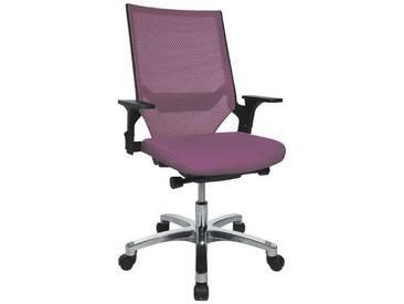 TOPSTAR Bürostuhl ohne Armlehnen »Autosyncron«, lila, lila