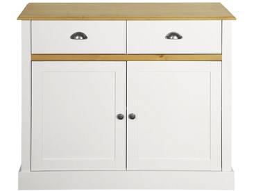 Home affaire Sideboard »Sandringham« mit 2 Türen und 2 Schubladen, Breite 144 cm, weiss