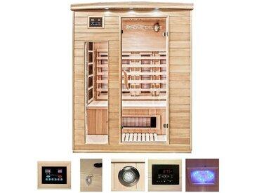 HOME DELUXE Infrarotkabine »Gobi L«, B/T/H: 150/110/190 cm, für bis zu 3 Personen, natur, natur