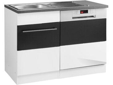 HELD MÖBEL GmbH Spülenschrank »Trient«, mit Tür/Sockel für Geschirrspüler, grau, anthrazit