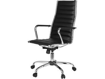 Amstyle Chefsessel »Genf 1«, mit abnehmbaren Softexbezug, schwarz, schwarz