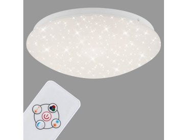 Briloner Leuchten LED Deckenleuchte »Ophelia«, 1-flammig, Deckenlampe Sternenhimmel RGB und Nachtlicht Ø26cm