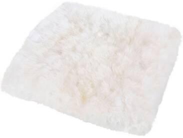 LUXOR living Fellteppich »Lammfell«, quadratisch, Höhe 30 mm, Sitzauflage aus echtem Lammfell, weiß, 34x34 cm, 30 mm, 30 mm, weiß