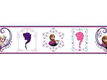 Bordüre »Disney, Die Eiskönigin«, lila, 1 Stk., weiß/lila/rosa