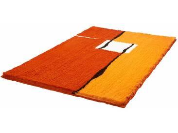 Kleine Wolke Badematte »Malaga« , Höhe 25 mm, rutschhemmend beschichtet, fußbodenheizungsgeeignet, rot, 25 mm, chili