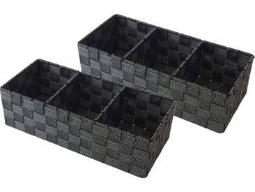 Franz Müller Flechtwaren Aufbewahrungsbox (Set, 2 Stück), schwarz, 35x15x10 cm, black snow