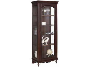 Premium collection by Home affaire Vitrine »Katarina«, mit Glaseinsatz in der Holztür, Korpus aus massiver Buche, Breite 72 cm, braun