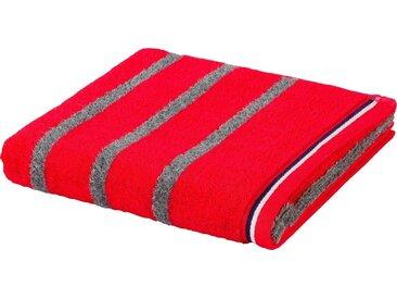 Möve Badetuch »Athleisure 2«, mit Streifen, rot, orange-grey