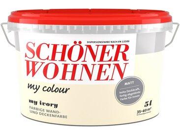 SCHÖNER WOHNEN-Kollektion SCHÖNER WOHNEN FARBE Wand- und Deckenfarbe »my colour - my ivory«, matt, 5 l, natur, my ivory