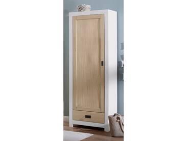 Home affaire Dielenschrank »Cubo« aus Massivholz, Höhe 180 cm, weiß, weiß/sandfarben
