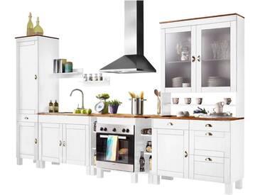 Home affaire Spar-Set »Oslo« (7-teilig) aus massiver Kiefer, weiß, Tiefe 50 cm, weiß-honigfarben