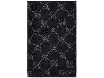 Joop! Gästehandtücher »Cornflower«, mit Kornblumen-Muster, schwarz, Walkfrottee, schwarz
