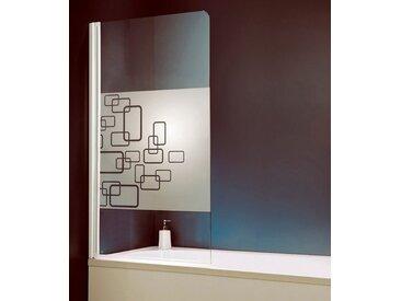 Schulte Badewannenaufsatz »Softcube«, weiß, mit Antikalk-Versiegelung, weiß