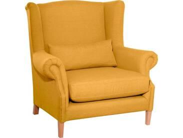 Max Winzer® Ohrensessel »Henry«, inklusive Zierkissen, gelb, gelb