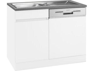 OPTIFIT Spülenschrank »Roth« Breite 110 cm, weiß, weiß