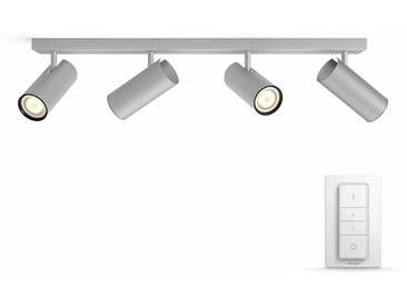 Philips Hue LED Deckenstrahler »Buratto«, 4-flammig, Smart Home, silberfarben, 4 -flg. /, silberfarben
