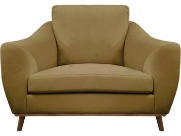 DELAVITA Delavita Sessel »Sarah« in skandinavischem Design mit Holzbeinen, natur, beige